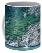 Waterfall In Tracy Arm Fjord, Alaska Coffee Mug
