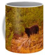 A Bear Staring At Something Coffee Mug