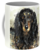A Beautiful Artistic Painting Of A Dachshund  Coffee Mug
