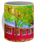 A Beautiful Country Building In The Fall 1 Coffee Mug