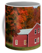 A Beautiful Country Building In The Fall 2 Coffee Mug
