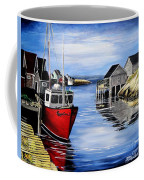 A Beautiful Day At Peggy's Cove  Coffee Mug