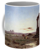 A Bedouin Encampment By A Ruined Temple  Coffee Mug