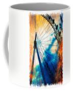 A Big Wheel Roller Coaster Ride Under A Sunset Coffee Mug