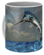 A Blue Marlin Flashes Its Iridescent Coffee Mug