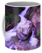 A Boulder Splitting The Rocks Coffee Mug