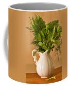 A Bouquet Of Fresh Herbs In A Tiny Jug Coffee Mug