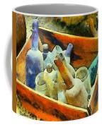 A Box Of Antique Bottles Coffee Mug