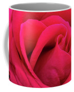 A Bright Pink Rose Close-up Coffee Mug