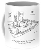 A Bunch Of Adults In Business Clothes Play Coffee Mug
