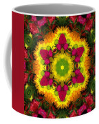 A Burst Of Flowers Kaleidoscope Coffee Mug