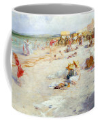 A Busy Beach In Summer Coffee Mug