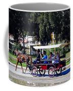 A Carriage Ride Through The Streets Of Katakolon Greece Coffee Mug