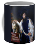 A Cat For Rembrandt_ Aristotle Caresses Calliope Coffee Mug