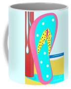 A Chancla On The Beach Coffee Mug