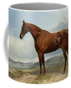 A Chestnut Hunter In A Landscape Coffee Mug
