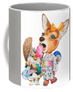A Child Deer And Squirrel At The Summer Festival Coffee Mug