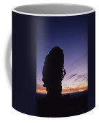A Climber Leads A Route Up A Spire Coffee Mug