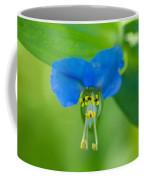 A Close-up Of A Bright Blue Flower Coffee Mug