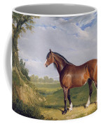 A Clydesdale Stallion Coffee Mug by John Frederick Herring Snr