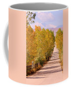 A Colorful Country Road Rocky Mountain Autumn View  Coffee Mug