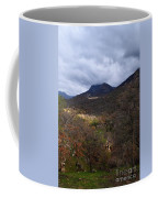 A Colorful Scene Of Burned And Lush Interspersed Foliage In The Southwest Foothills Of The Sierra Ne Coffee Mug