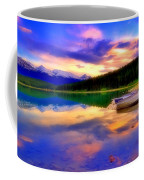 A  Colourful Evening At Lake Patricia Coffee Mug