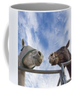 A Conversation Between Two Horses Coffee Mug