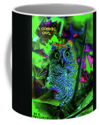A Cosmic Owl In A Psychedelic Forest Coffee Mug