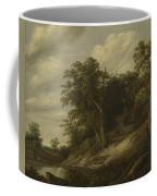 A Cottage Among Trees On The Bank Of A Stream Coffee Mug
