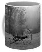 A Country Scene In Black And White Coffee Mug