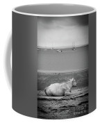 A Cow On The Beach Coffee Mug