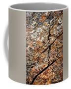 A Crack On A Brown Stone Block Coffee Mug