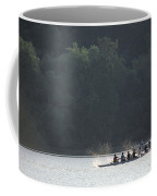 A Crew Team Rowing On The Potomac River Coffee Mug