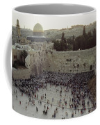 A Crowd Gathers Before The Wailing Wall Coffee Mug by James L. Stanfield