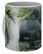 A Crucifixion Statue In A Cemetery Coffee Mug by Joel Sartore
