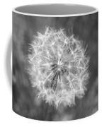 A Dandelion Black And White Coffee Mug