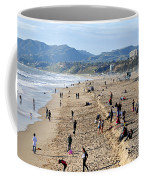 A Day At The Beach In Santa Monica Coffee Mug