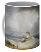 A Deal Lugger Going Off To Storm Bound Ships In The Downs Coffee Mug