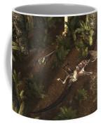 A Dimorphodon Pterosaur Chasing An Coffee Mug