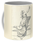 A Distraught Woman With Her Head Thrown Back Coffee Mug