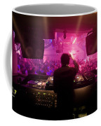 A Dj Plays To His Crowds On A Busy Coffee Mug by Justin Guariglia