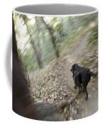A Dog Backpacking On Pine Ridge Trail Coffee Mug