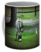 A Donkey And His Bird Coffee Mug