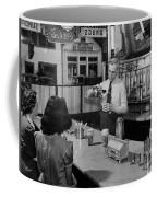 A Druggist Prepares Ice Cream Floats At A Soda Fountain Coffee Mug