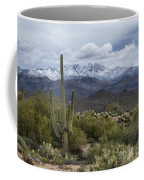 A Dusting Of Snow In The Sonoran Desert  Coffee Mug