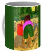 A Fall Walk On The Beach Coffee Mug