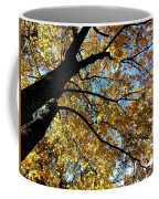 A Falling Maple Leaf Coffee Mug