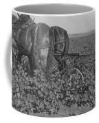 A Farmer Using A Cultivator  Coffee Mug