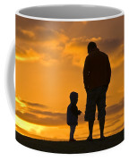 A Father And His Baby Son Watch Coffee Mug by Jason Edwards